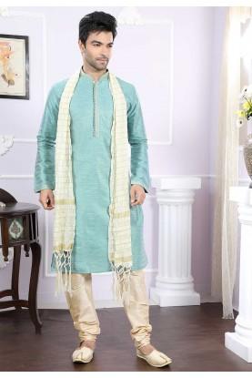 Buy kurta pyjama online in turquoise Colour
