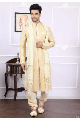 Buy designer kurta pajama in golden Colour for wedding