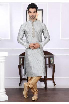 Buy kurta pyjama online in grey colour online