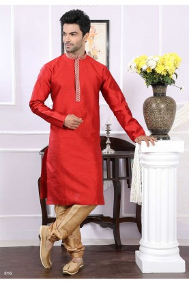 Buy designer kurta pajama in maroon colour online