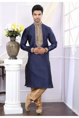 Buy designer kurta pajama in blue colour online