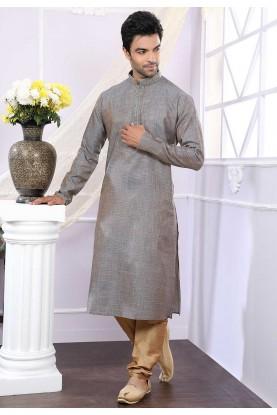 Buy kurta pyjama online in brown colour