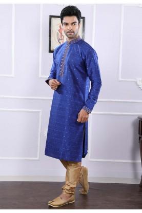 Buy party wear kurta pyjama online in blue colour