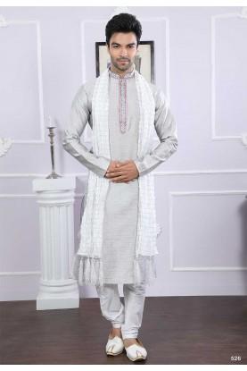 Buy kurta pyjama online in grey colour