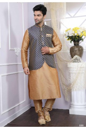 Buy kurta pyjama online in beige, blue colour
