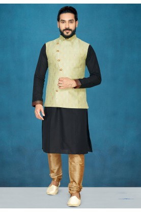 Black,Green Colour Designer Kurta Pajama.