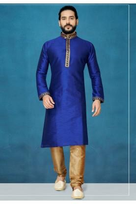 Royal Blue Colour Designer Kurta Pajama.