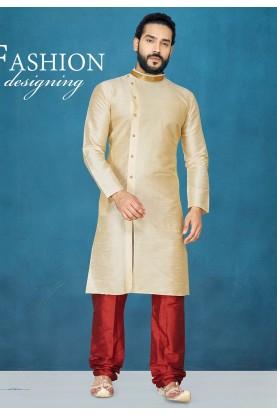 Cream Colour Kurta Pajama.