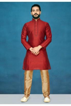 Designer Kurta Pajama in Maroon Colour.