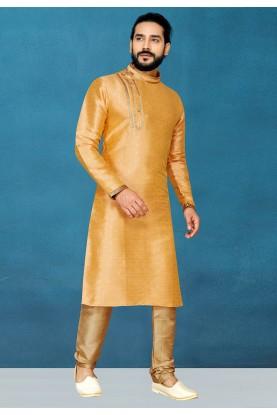 Orange Colour Indian Traditional Kurta Pajama.