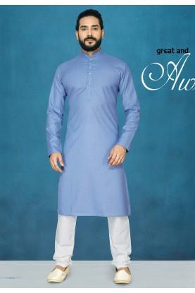 Readymade Kurta Pajama in Blue Colour.