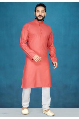 Red,Peach Colour Men's Wear Kurta Pajama.