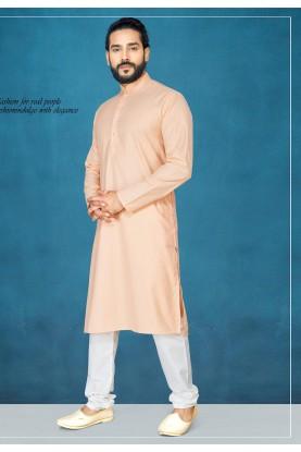 Cream Colour Kurta Pajama For Men's.
