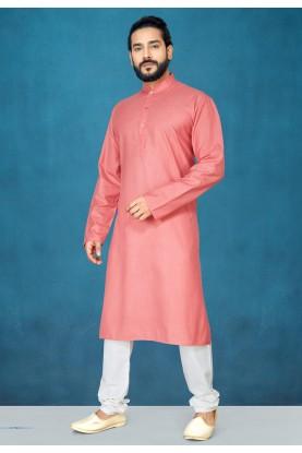 Pink,Red Colour Regular Wear Kurta.