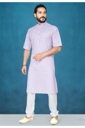 Light Purple Colour Modi Kurta.