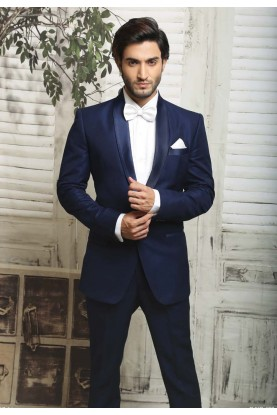 BLUE COLOR ITALIAN FABRIC DESIGNER SUIT