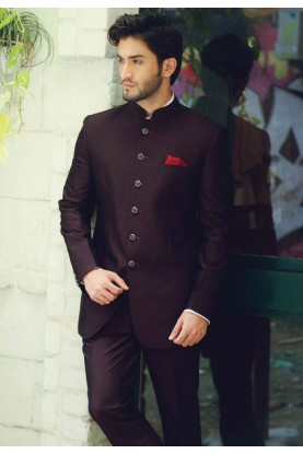 Wine Color Designer Traditional Jodhpuri Suits