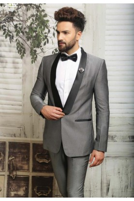 Best Wedding Suits for Men in Grey Color and Italian Fabric Suit