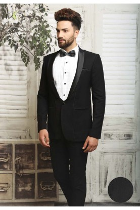 Black color italian fabric Tuxedo suit online