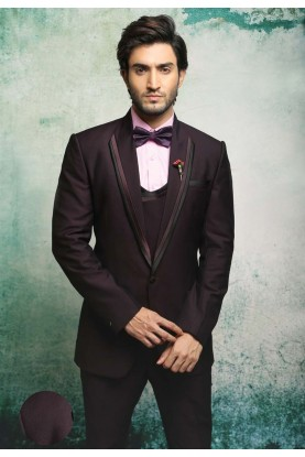 Best Wedding Suits for Men in Elegant Wine Color