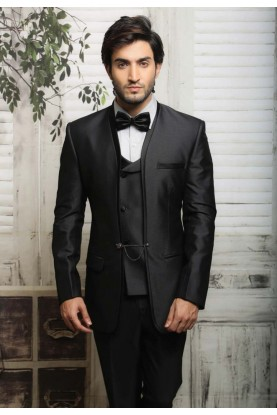 UNIQUE BLACK COLOR TUXEDO SUIT