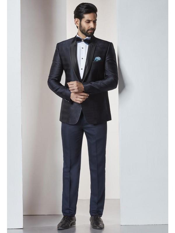 Blue Color Designer Tuxedo Suit.