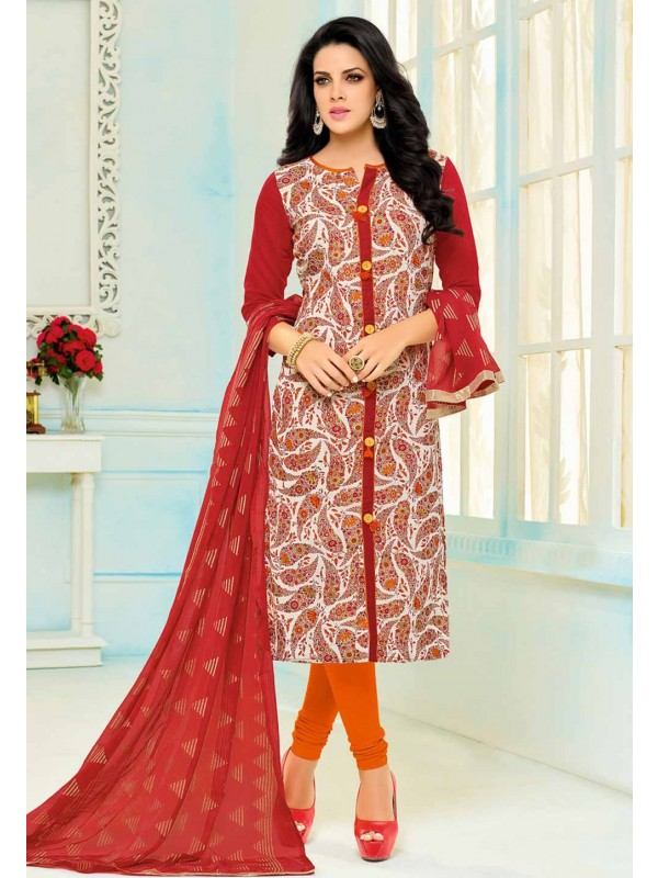 Multi Color Cotton Beautiful Salwar Kameez