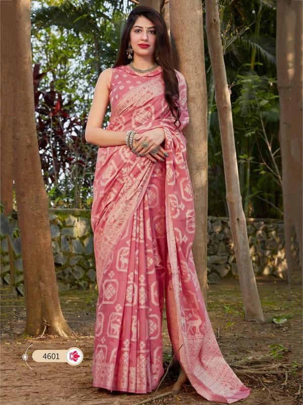 Light Pink Colour Cotton,Silk Saree.