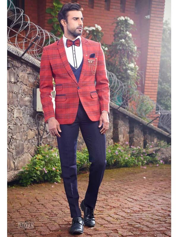 Blue,Red Colour Designer Wedding Suit.