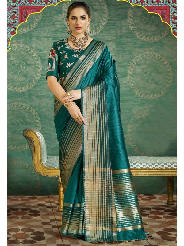Green Color Silk Saree