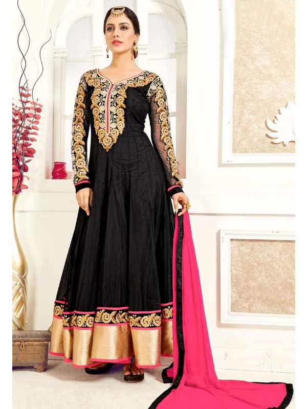 Black Color Georgette Designer Salwar Kameez