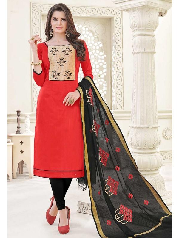 Red Casual Salwar Kameez