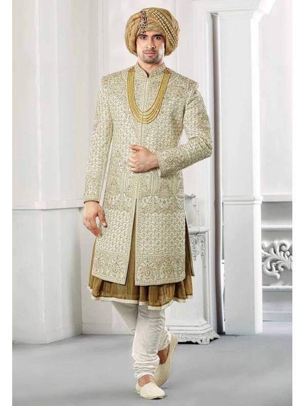 Hand work Sherwani for wedding.