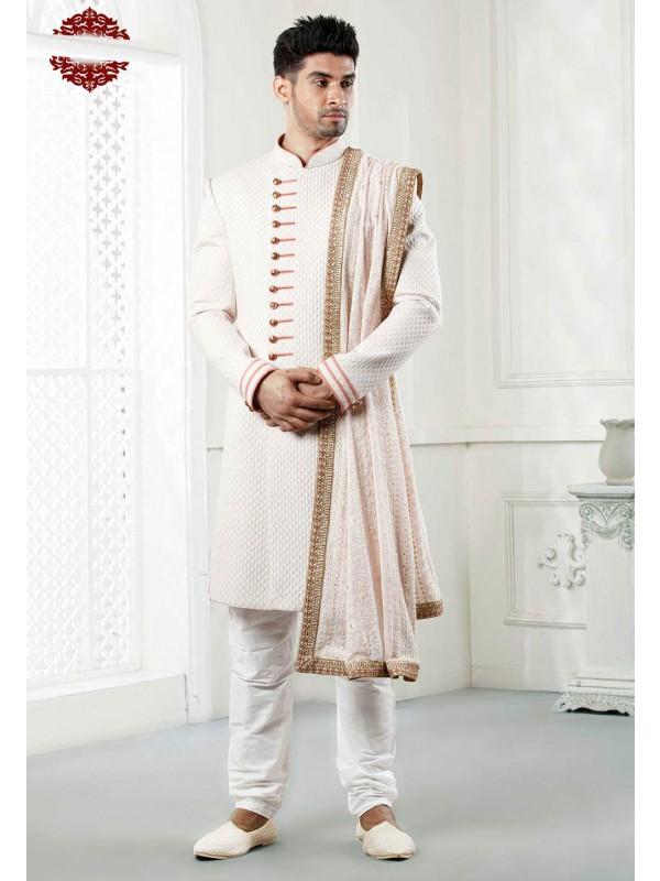 Cream Indowestern Sherwani