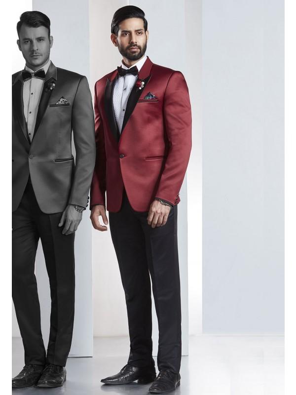 Red,Maroon Color Designer Wedding Suit.