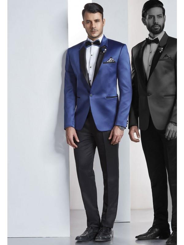 Blue Color Tuxedo Suit.