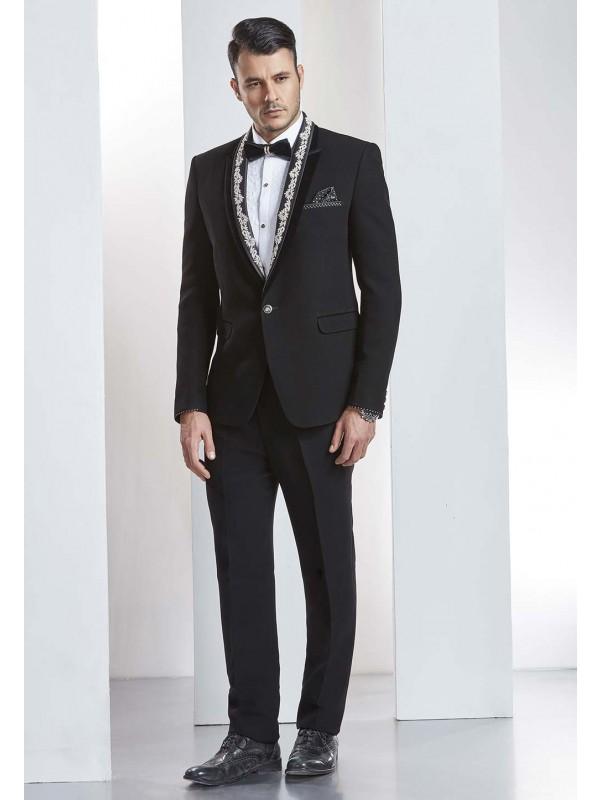 Elegant Black Color Indian Wedding Suit.