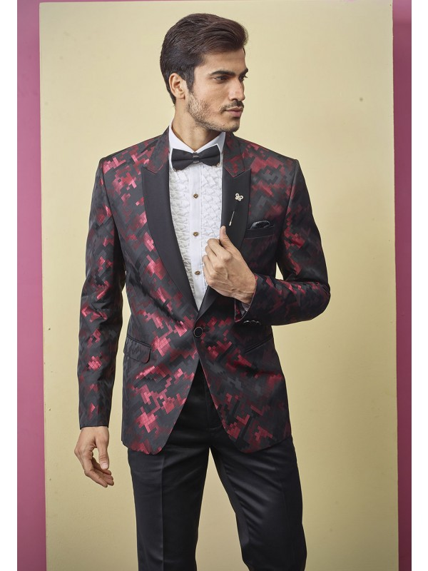 Black Colour Men's Tuxedo Suit.