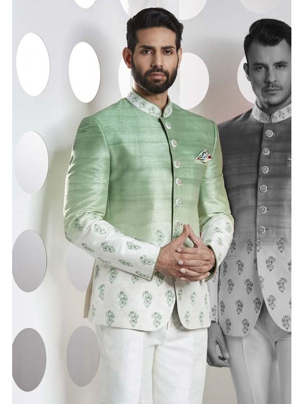 Green Color Jodhpuri Suit.