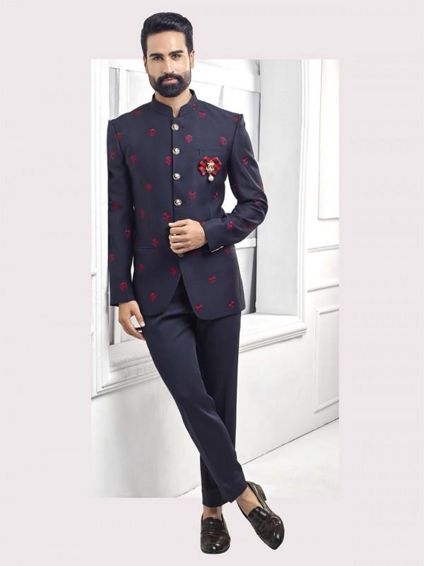 Elegant Blue Colour Designer Mens Jodhpuri Suit.