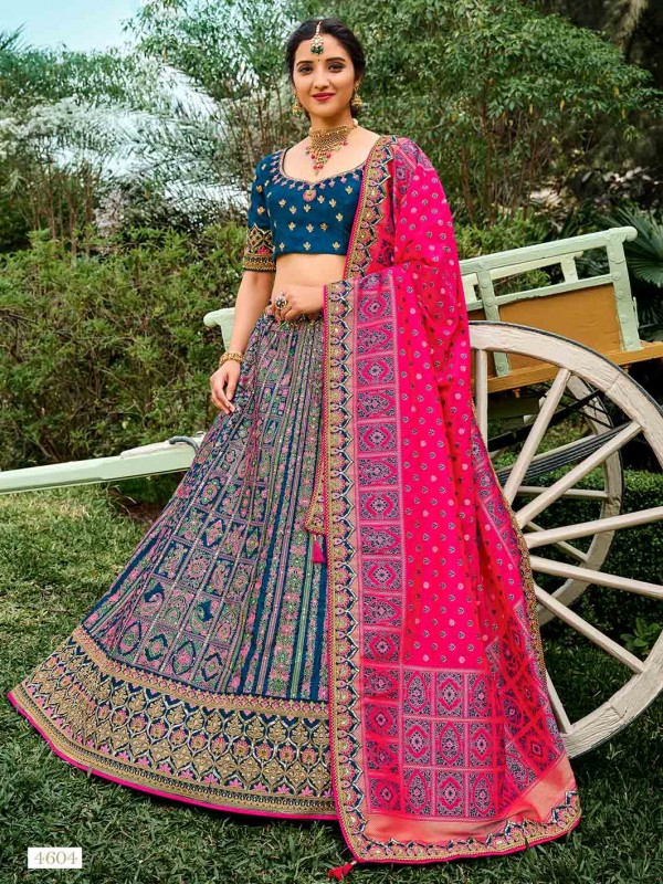 Blue Colour Silk Designer Lehenga Choli.