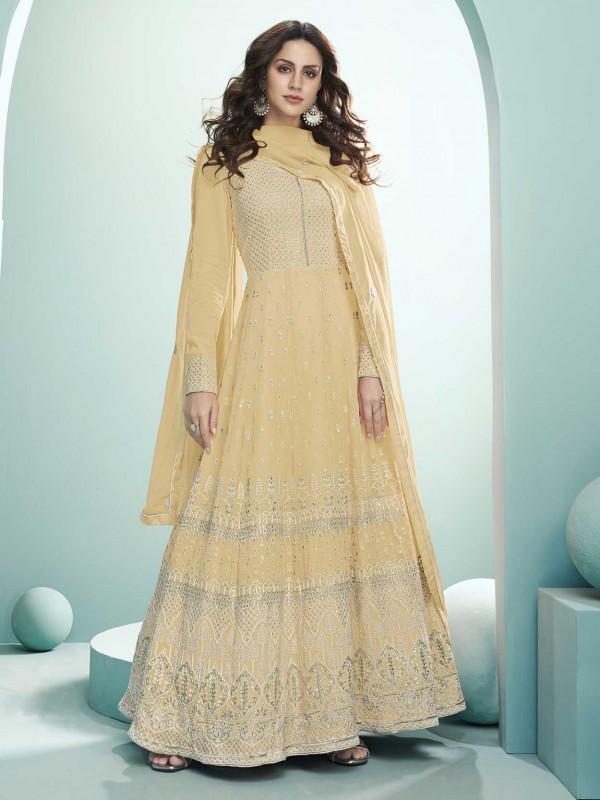 Light Yellow Colour DesignerSalwar Suit.