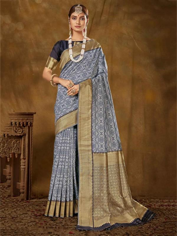 Light Blue Colour Silk Women Saree.