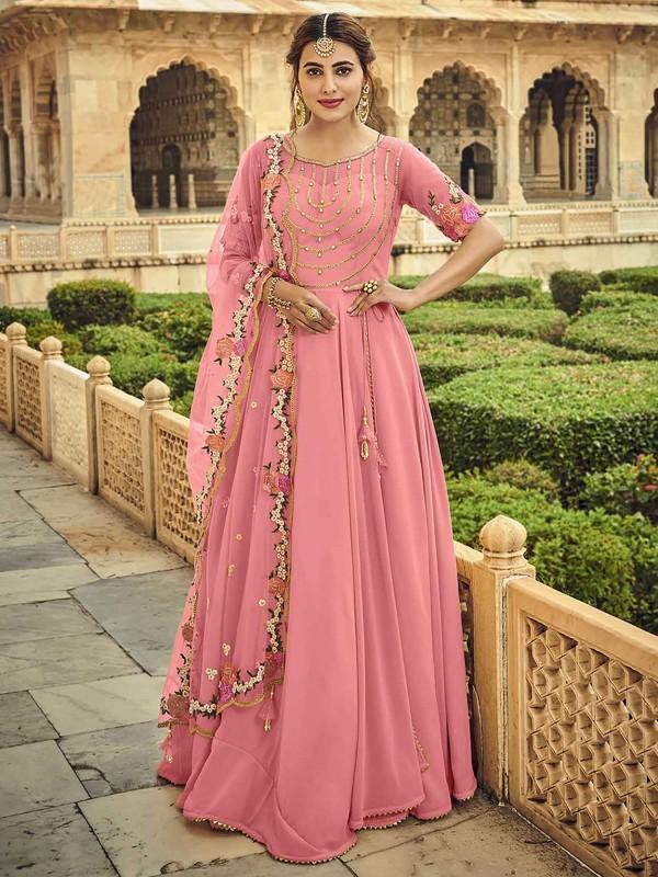 Pink Colour Women Salwar Kameez in Georgette Fabric.