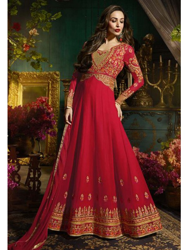 Red Color Bollywood Salwar Suit.