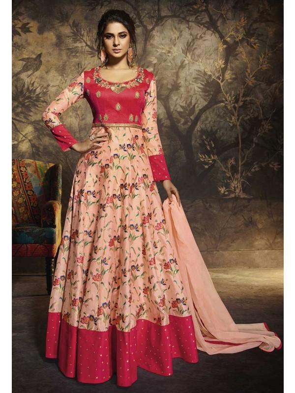 Peach,Pink Colour Bollywood Salwar Suit.