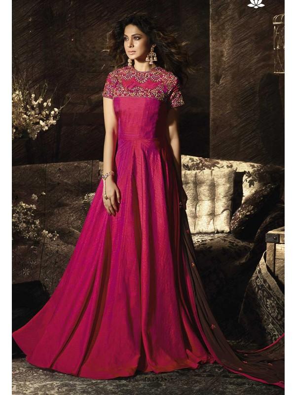 Red,Pink Colour Designer Salwar Suit.