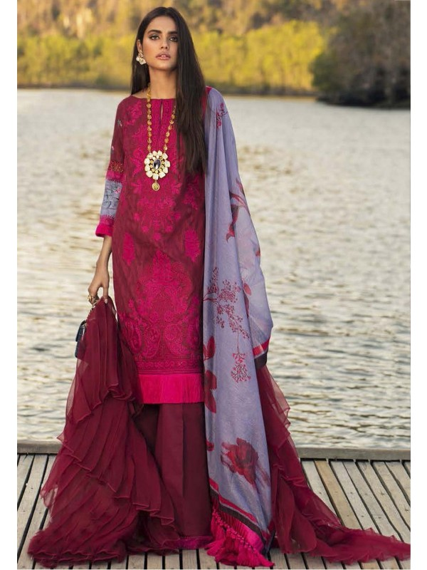 Red,Maroon Colour Cotton,Silk Saree.