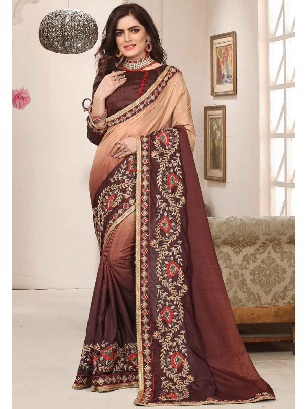 Brown Colour Silk Saree.