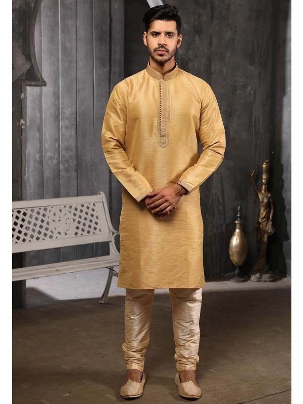 Golden Colour Readymade Kurta Pajama.